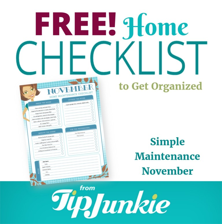 November Organization and Home Repair Checklist_Square