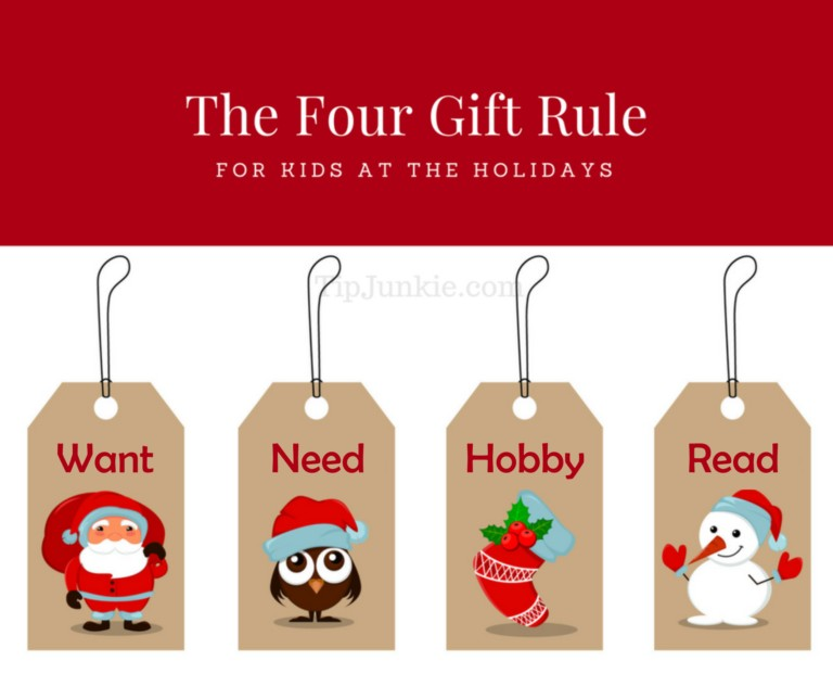 The Four Gift Rule for Kids at Christmas