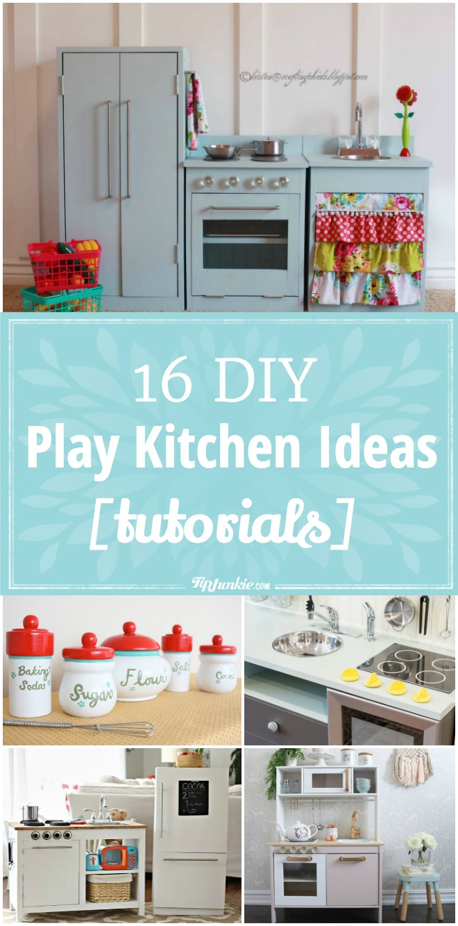 16 DIY Play Kitchen Ideas [tutorials]