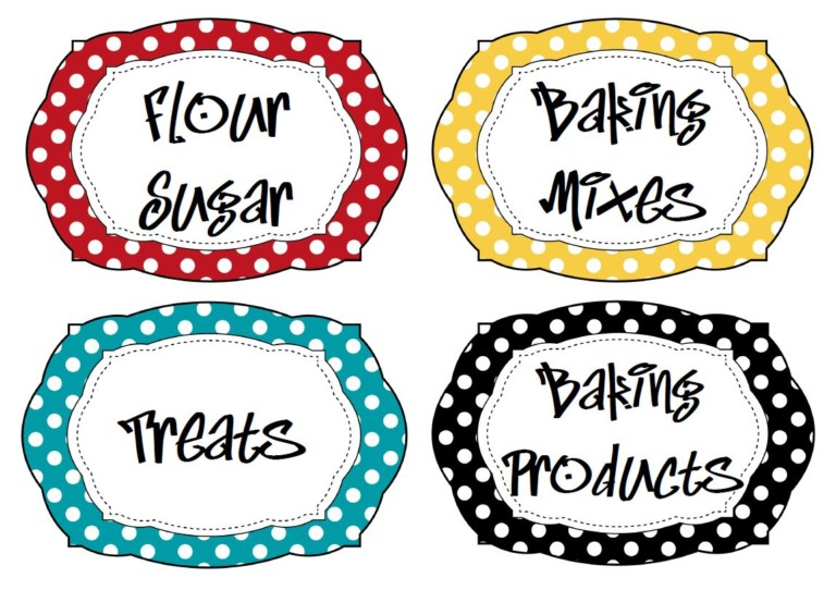 Oval Kitchen Pantry Labels for Storage