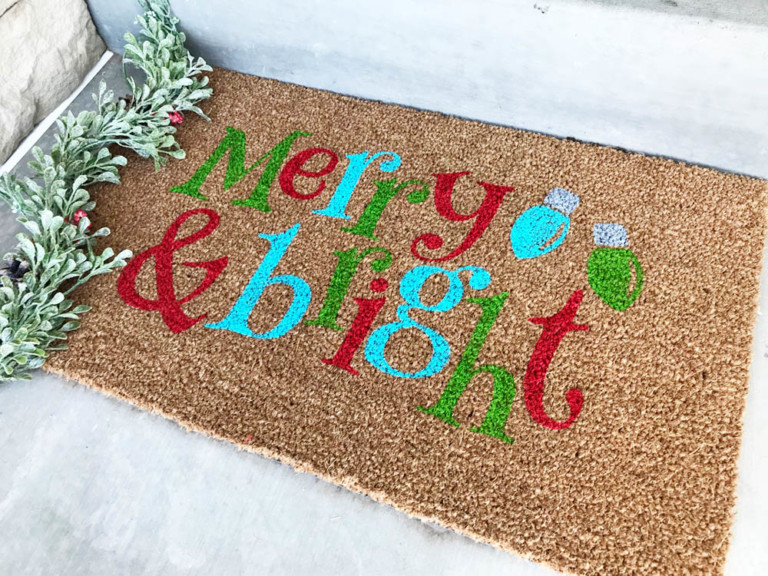 DIY-Christmas-Doormat