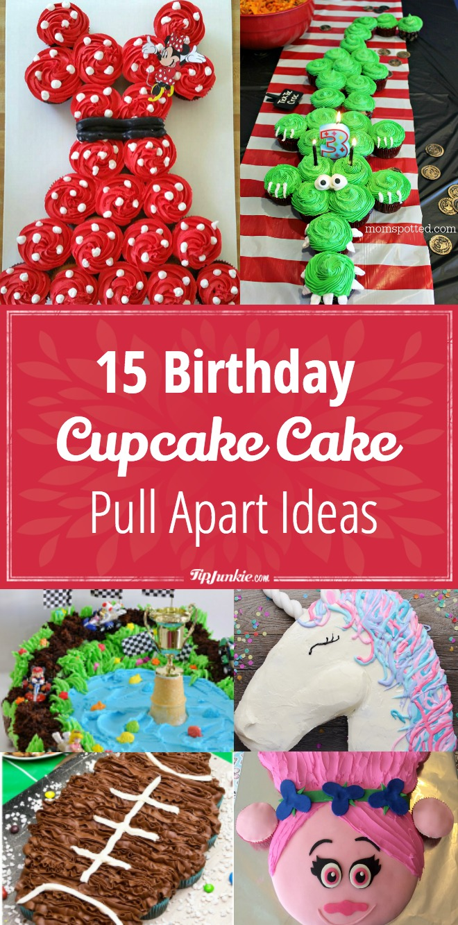 Remarkable 15 Birthday Cupcake Cake Ideas Recipes Tip Junkie Birthday Cards Printable Trancafe Filternl