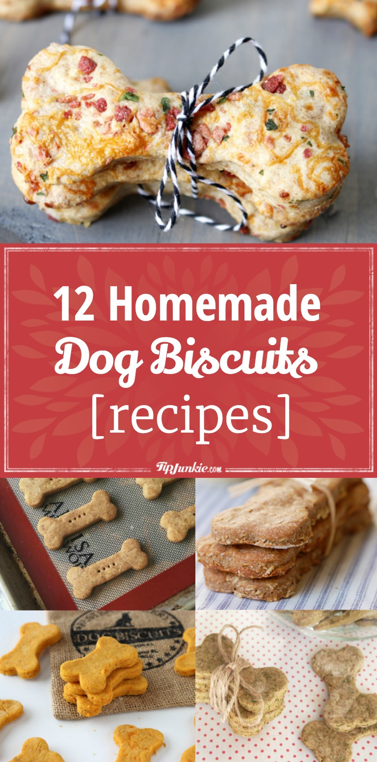 12 Homemade Dog Biscuits Recipes Tip Junkie
