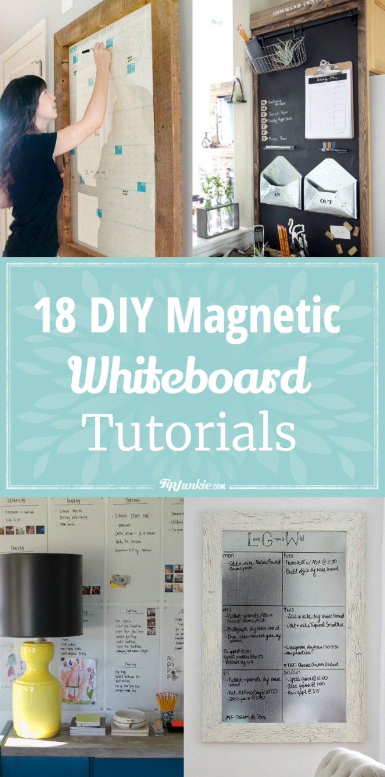 18 diy magnetic whiteboard tutorials tip junkie how to make a magnetic board 18 diy magnetic whiteboard tutorials solutioingenieria Image collections