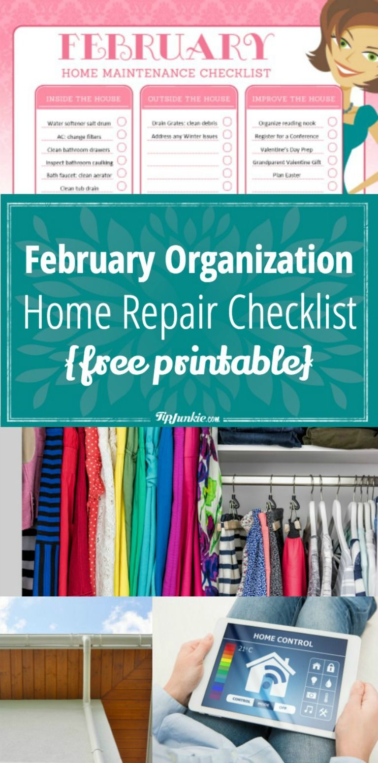 February Organization and Home Repair Checklist