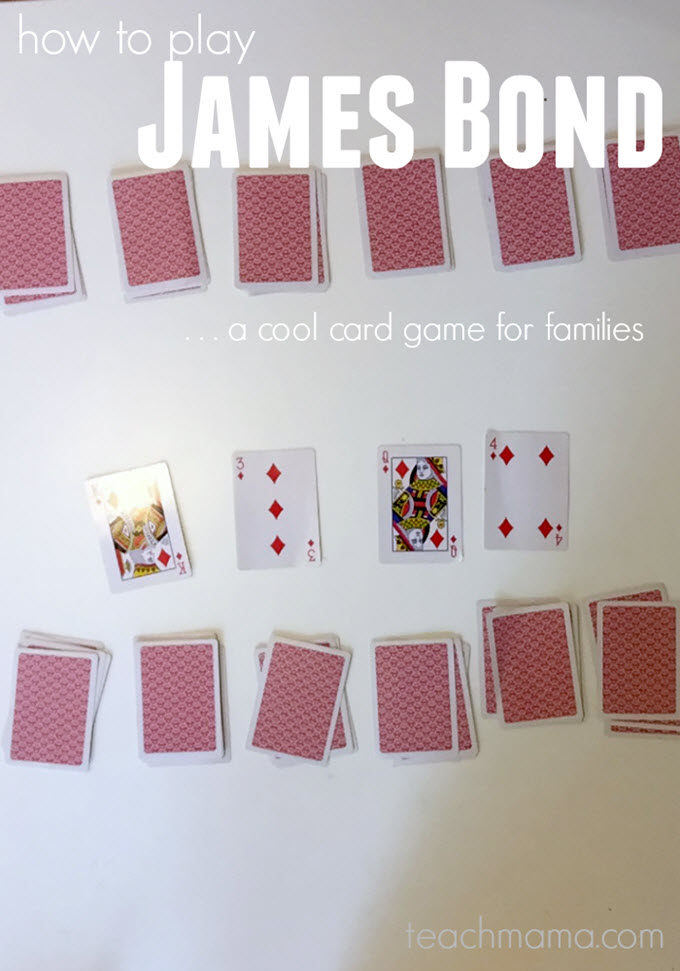 James Bond Family Card Game