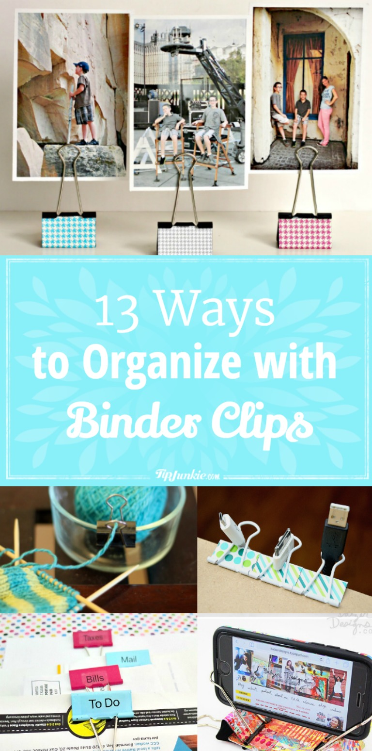 13 Ways to Organize with Binder Clips