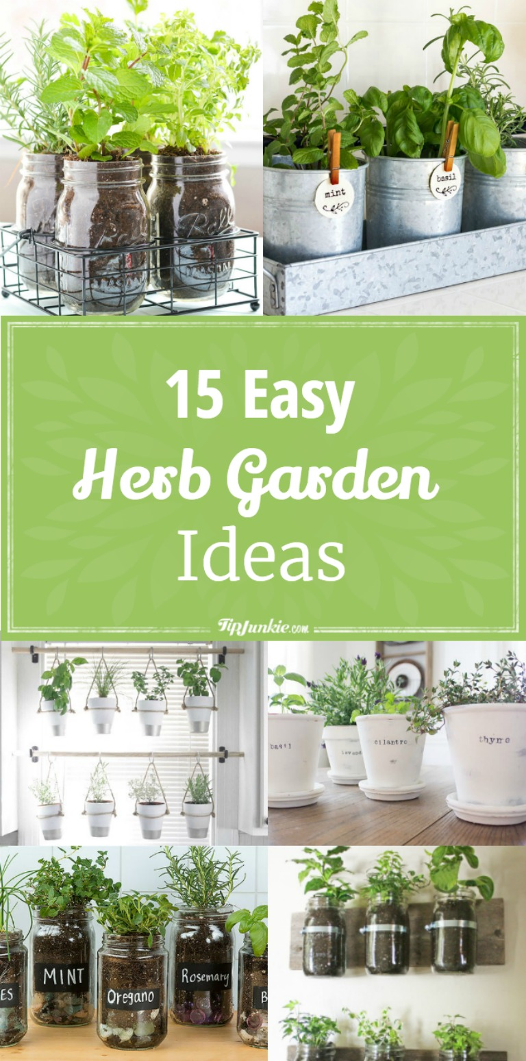 15 Easy DIY Herb Garden Ideas | Tip Junkie