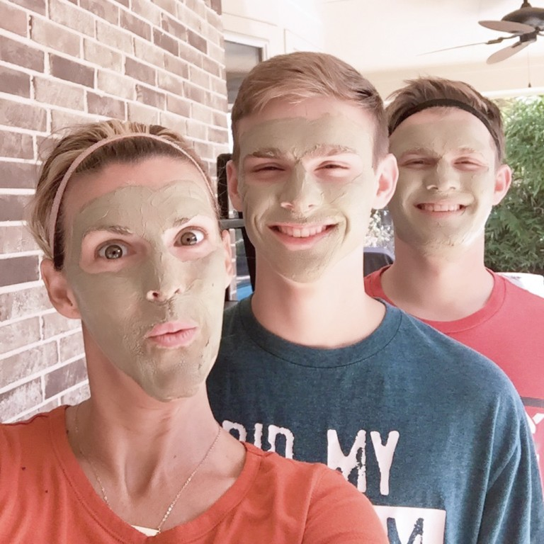 Laurie and Boys Face Mask