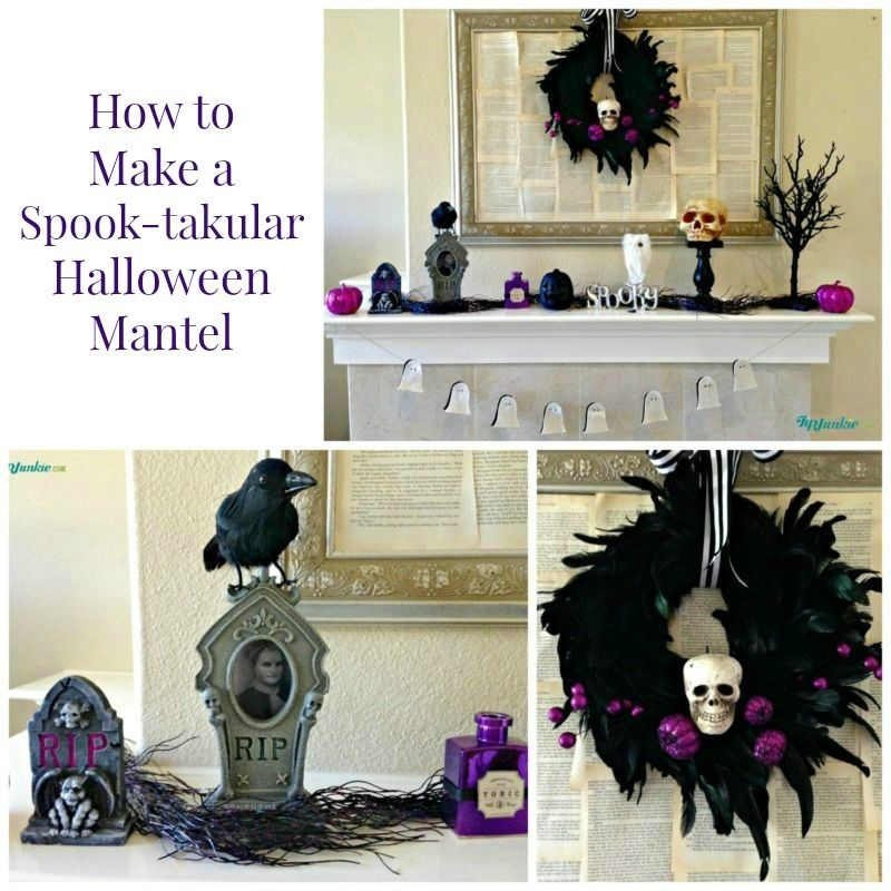 how to make a spooktacular halloween mantle