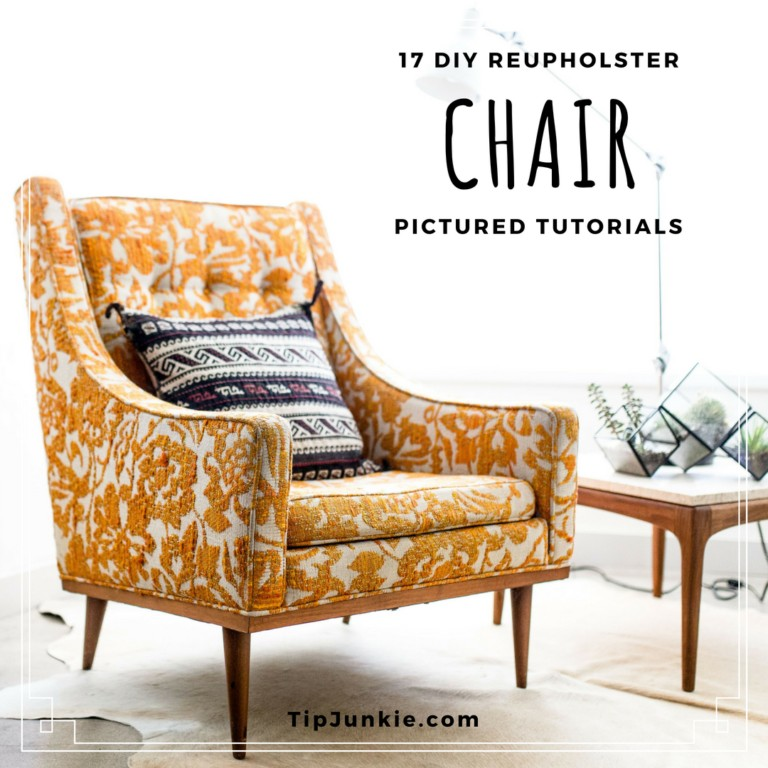 17 How to Reupholster a Chair on Tip Junkie