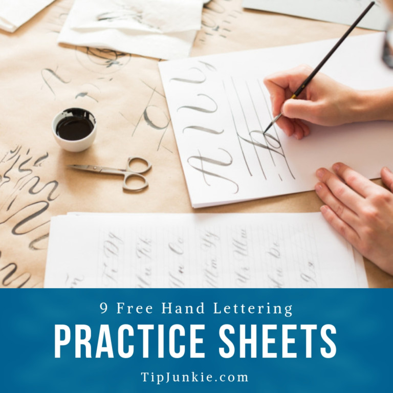 9 Free Hand Lettering Practice Sheets to Print