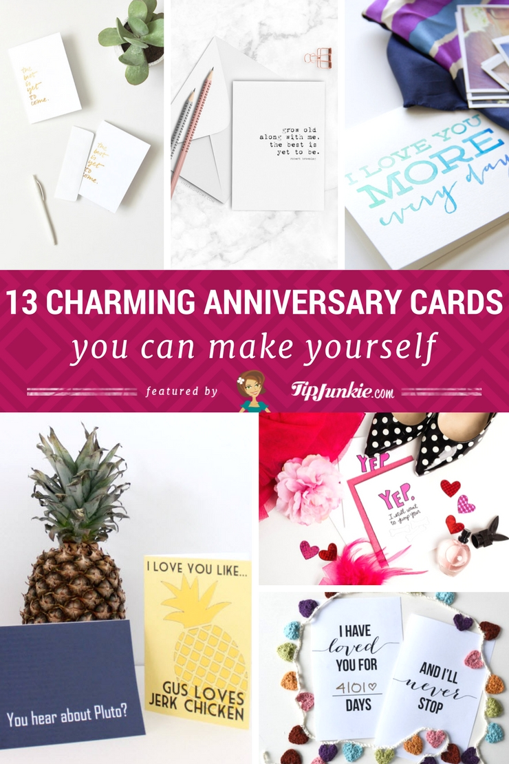 13 Charming Anniversary Cards You Can Make Yourself