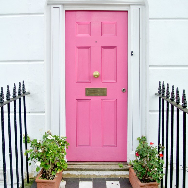 Front Door Painting Ideas Pink