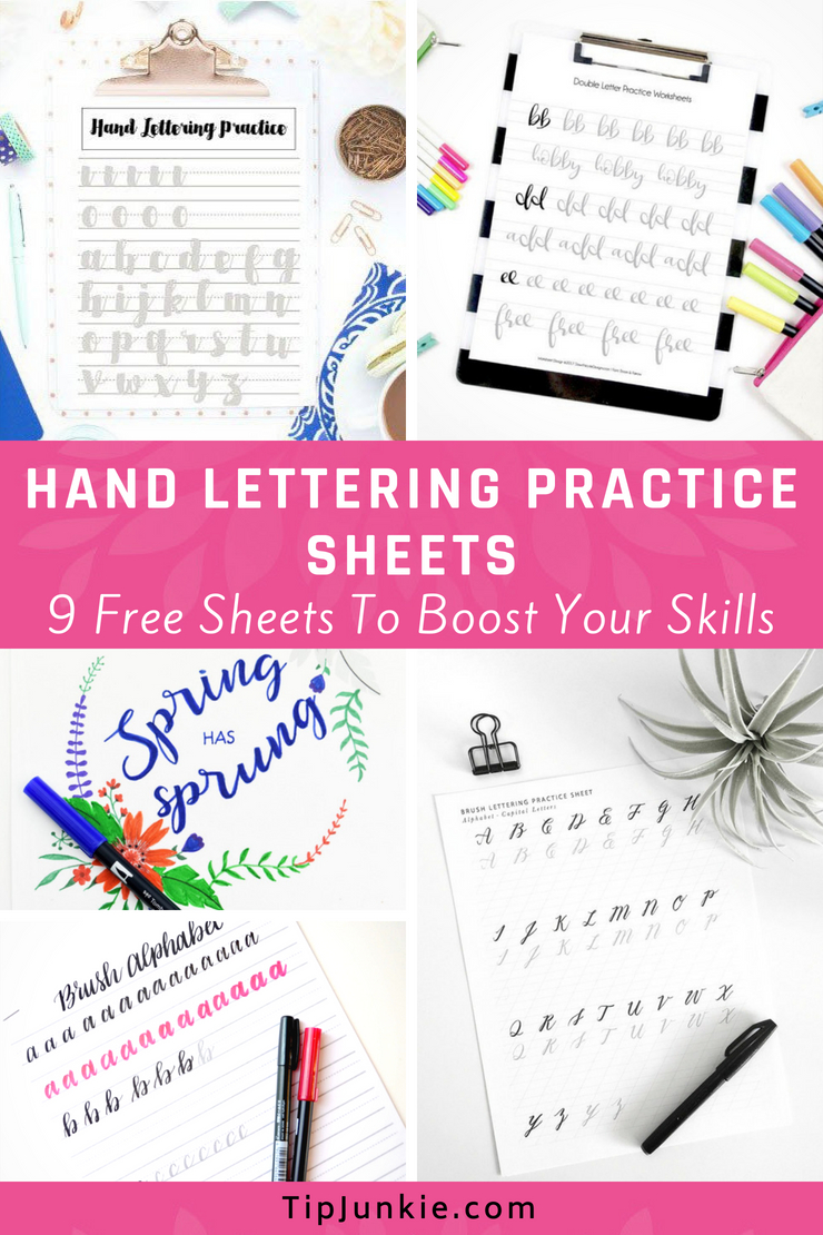 Oh boy do I need this!  Hand Lettering Practice Sheets to boost your handwriting skills.