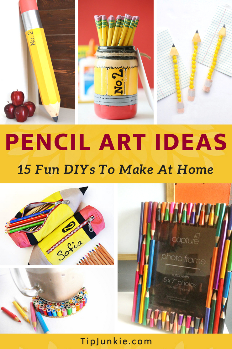 15 Pencil Art Ideas for Kids and adults! It's super inexpensive, creative, and can lead to hours of fun. Grab your child and some pencils.