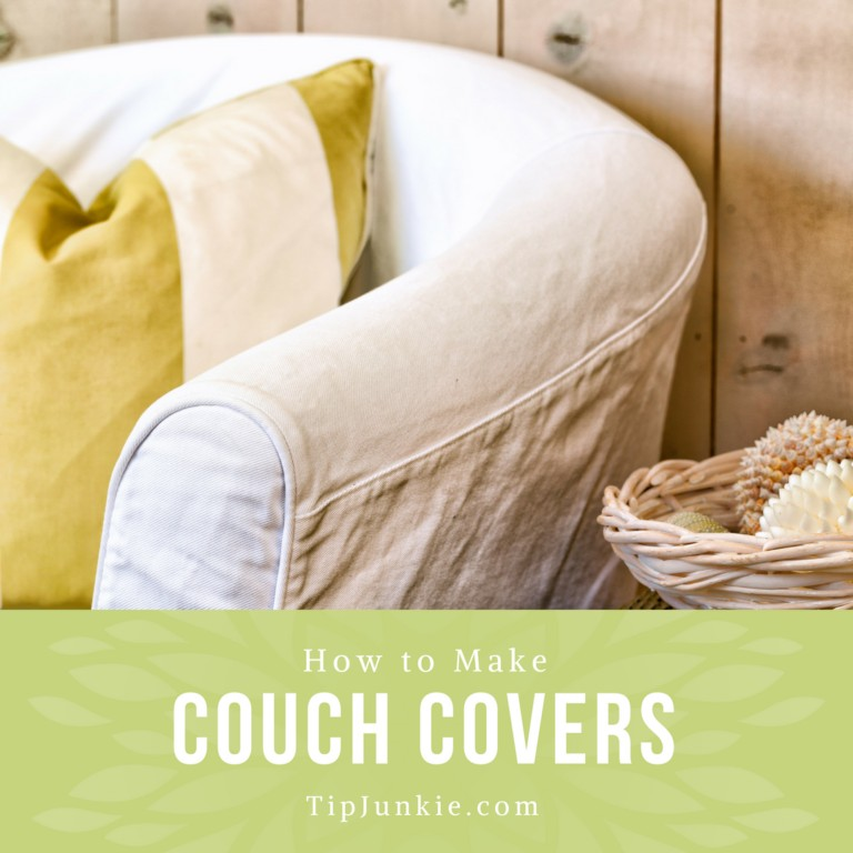 How to Make Couch Covers on Tip Junkie