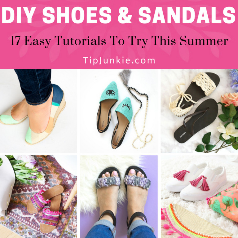 17 Easy DIY Shoes and Sandals to Make on Tip Junkie-Square