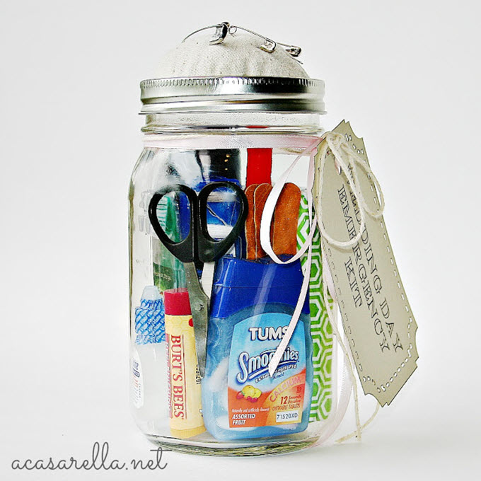 Mason Jar Wedding Emergency Kit