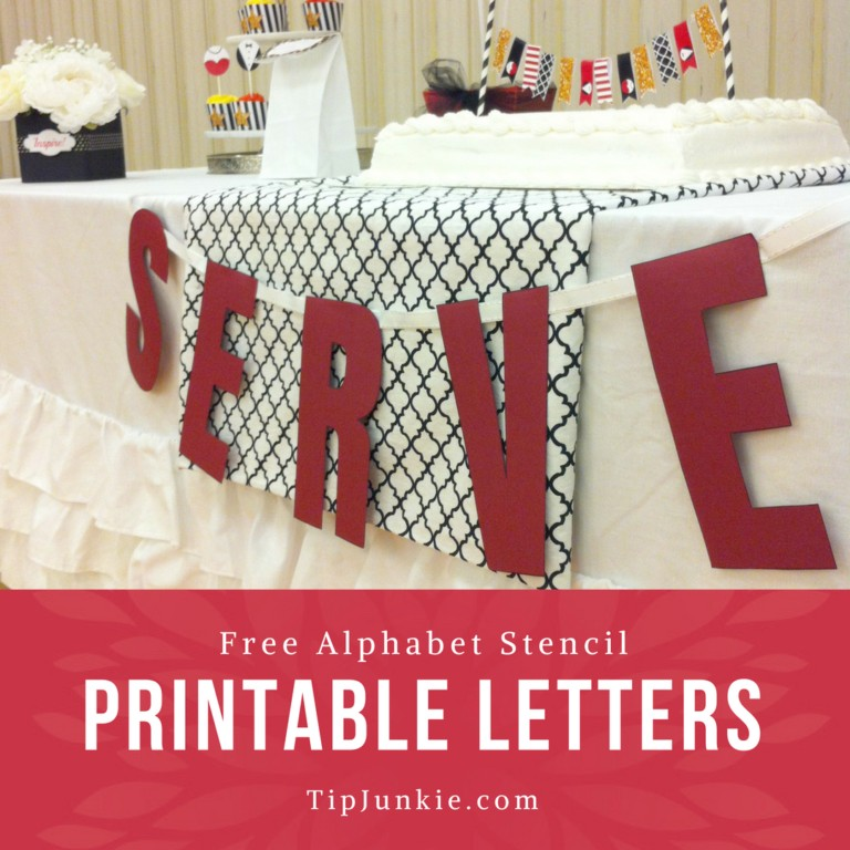 image about Free Printable Bulletin Board Letters Pdf referred to as Alphabet Free of charge Printable Letters no cost stencil Idea Junkie