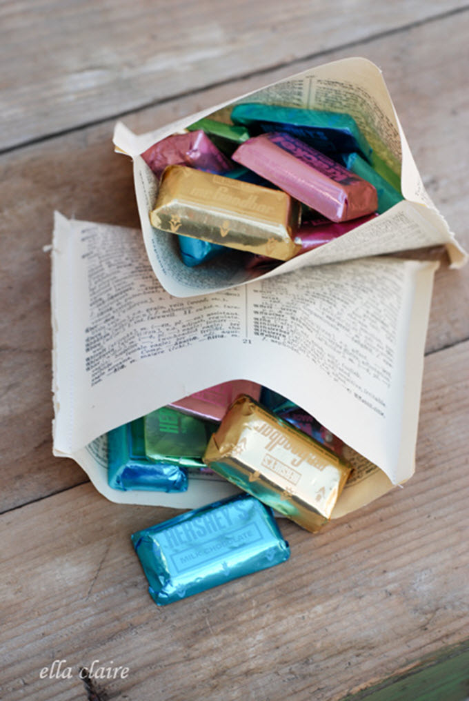 DIY Book Page Treat Bags