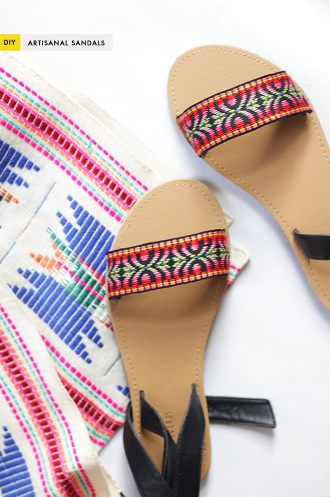 DIY Easy Artisanal Sandals