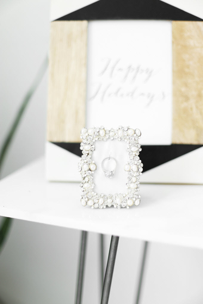 DIY Engagement Ring Display Cheap Wedding Gift Ideas