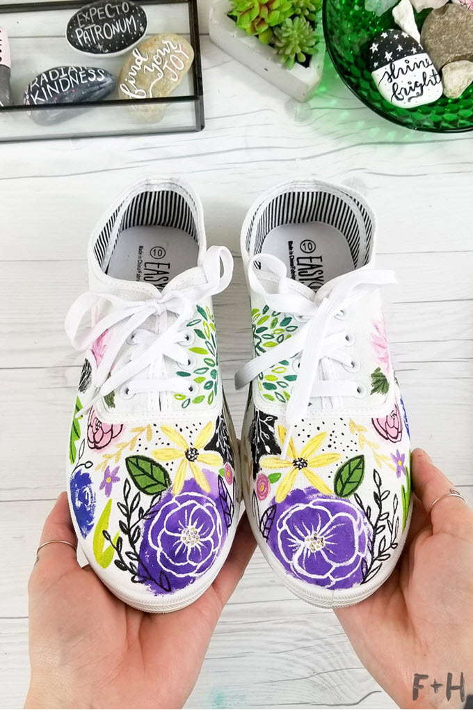 DIY Painted Canvas Sneakers