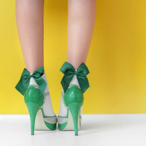 DIY Shoes for Women Green High Heals