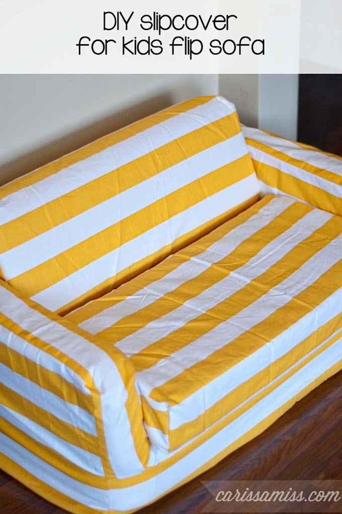 DIY Slipcover For Kids Flip Sofa