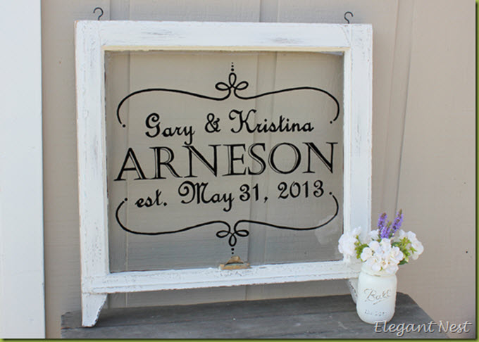 DIY Wedding Presents Vintage Window Wedding Sign