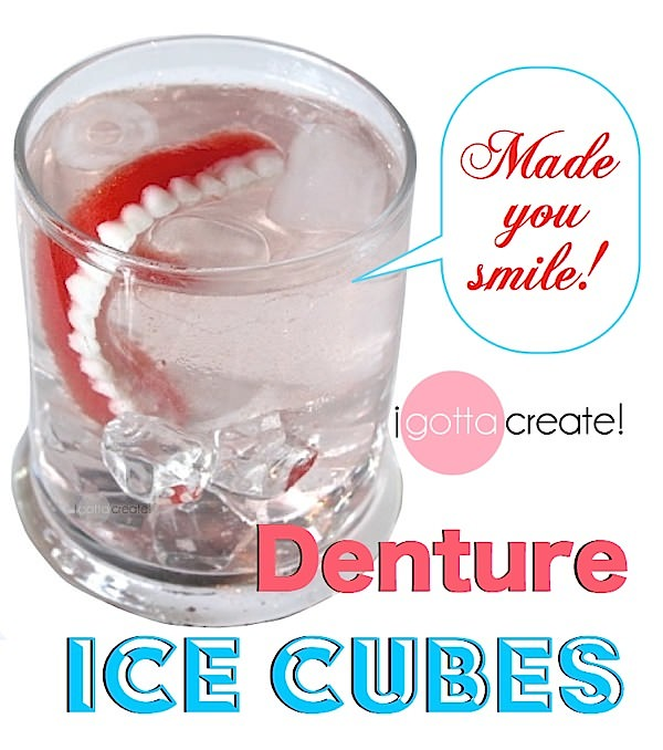 Denture Ice Cubes for happy 50th birthday at I Gotta Create