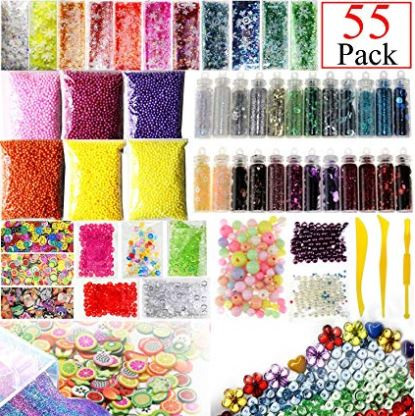 Slime Supplies Kit 55 Pack Slime Beads Charms