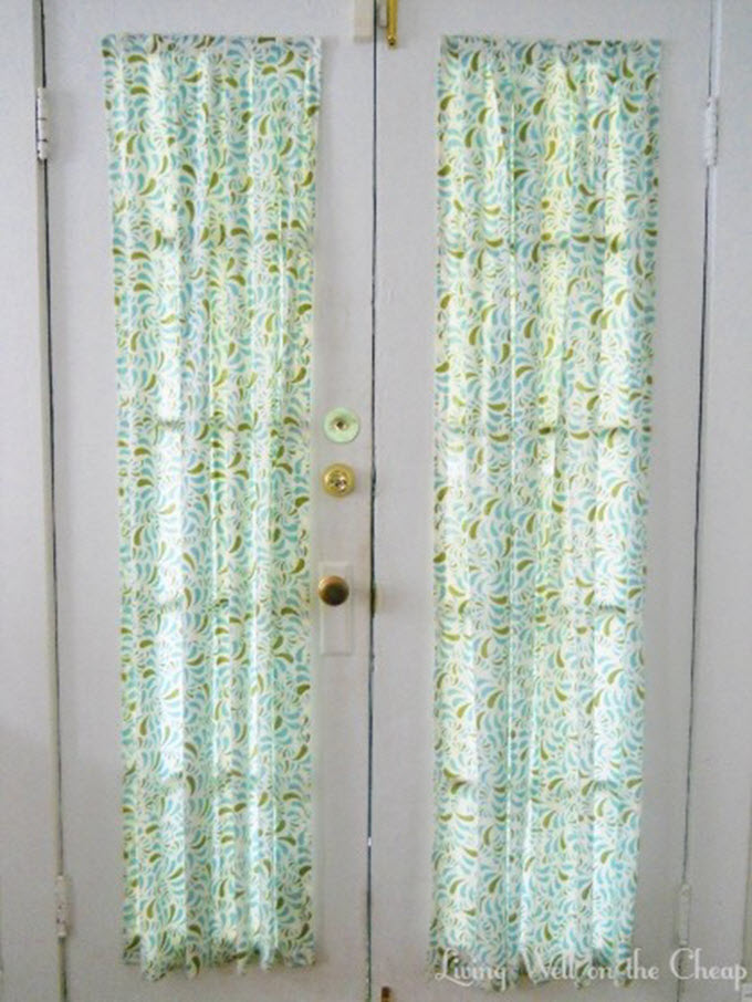 DIY Front Door Curtains