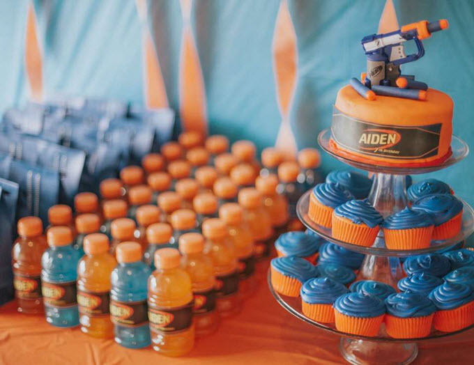 Epic Nerf War Birthday Party