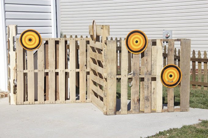 Nerf Birthday Party With Pallet Battlefield