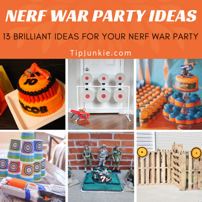Nerf War Party Ideas for Boys Birthdays on Tip Junkie