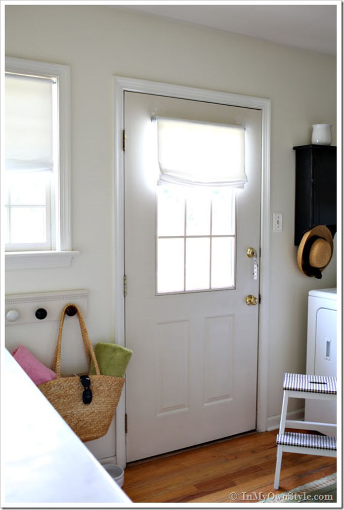 No-Sew Relaxed Roman Shades