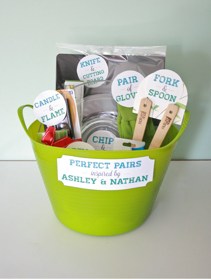 Perfect Pairs DIY Bridal Shower Gift Basket