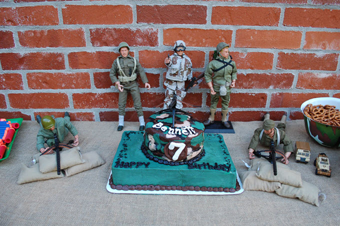 Soldier Nerf Birthday Party