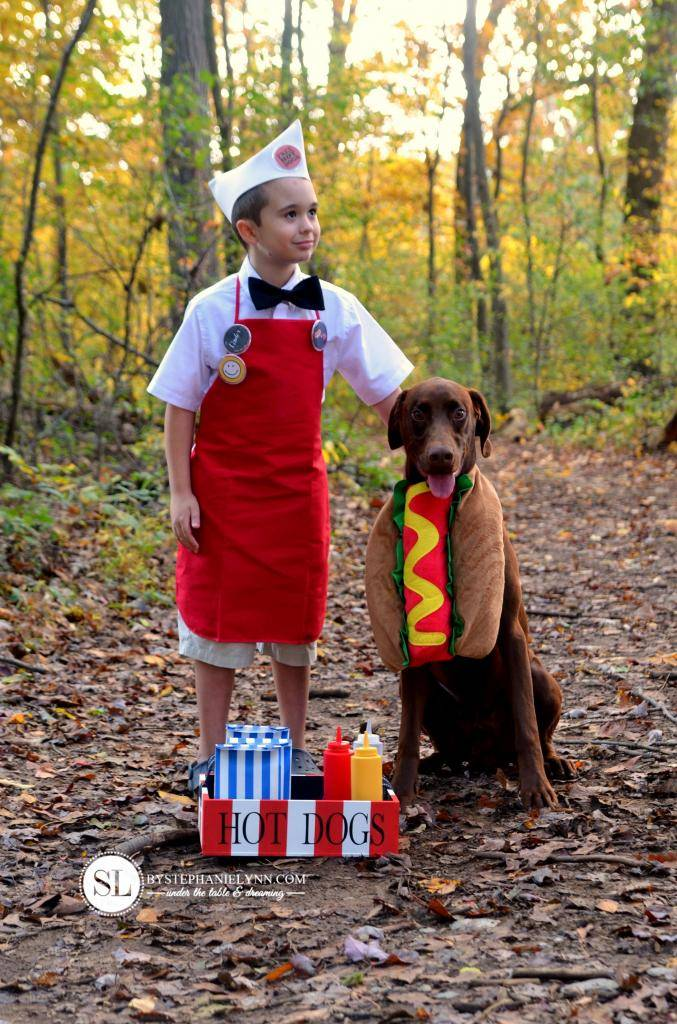 Easy Hot Dog Vendor and Hot Dog Costume