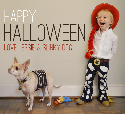 HOMEMADE JESSE & SLINKY DOG COSTUMES FROM TOY STORY
