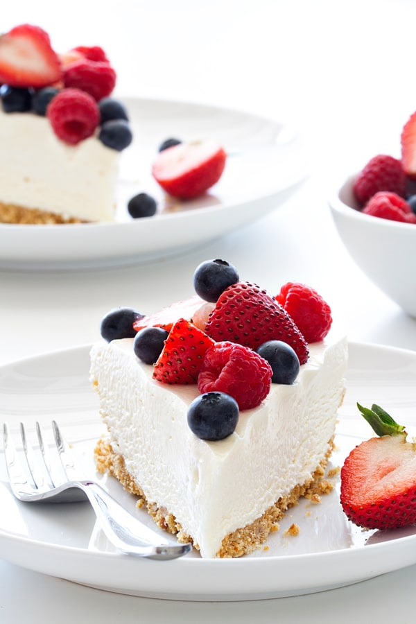 No Bake Frozen Cheesecake