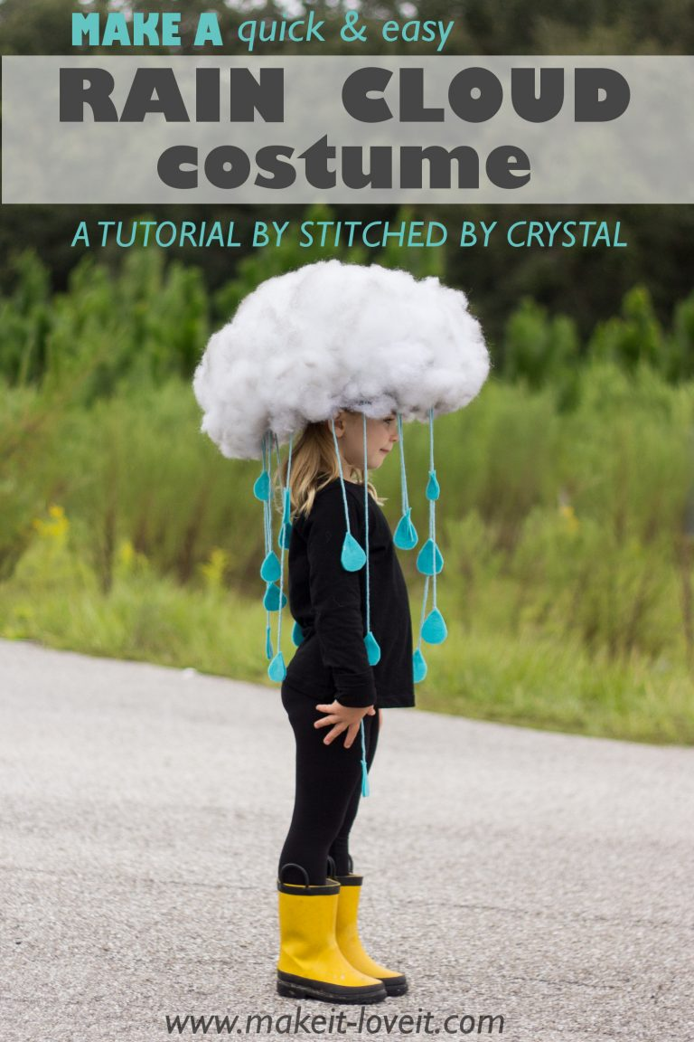 Rain Cloud DIY Halloween Costume