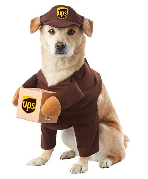 UPS Pal Pet Costume on Amazon