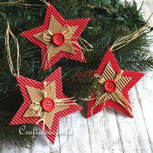 20+ Handmade Christmas Ornaments Using Cardboard!