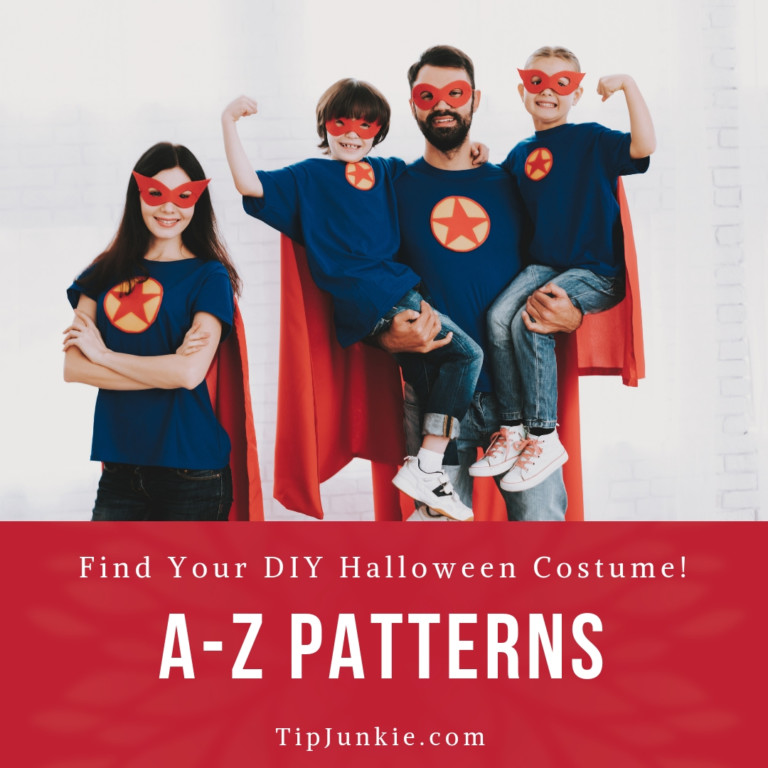 DIY Halloween Costumes Here A-Z free patterns on Tip Junkie