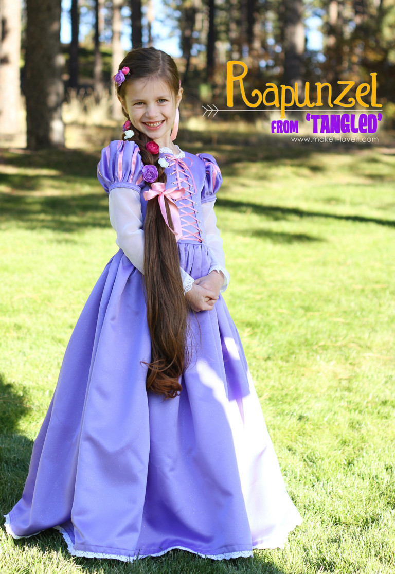 Rapunzel disney princess costume for girls