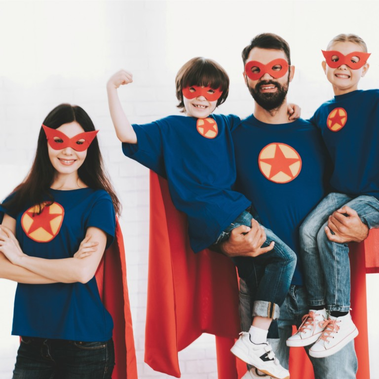 diy halloween costumes for families superhero featured