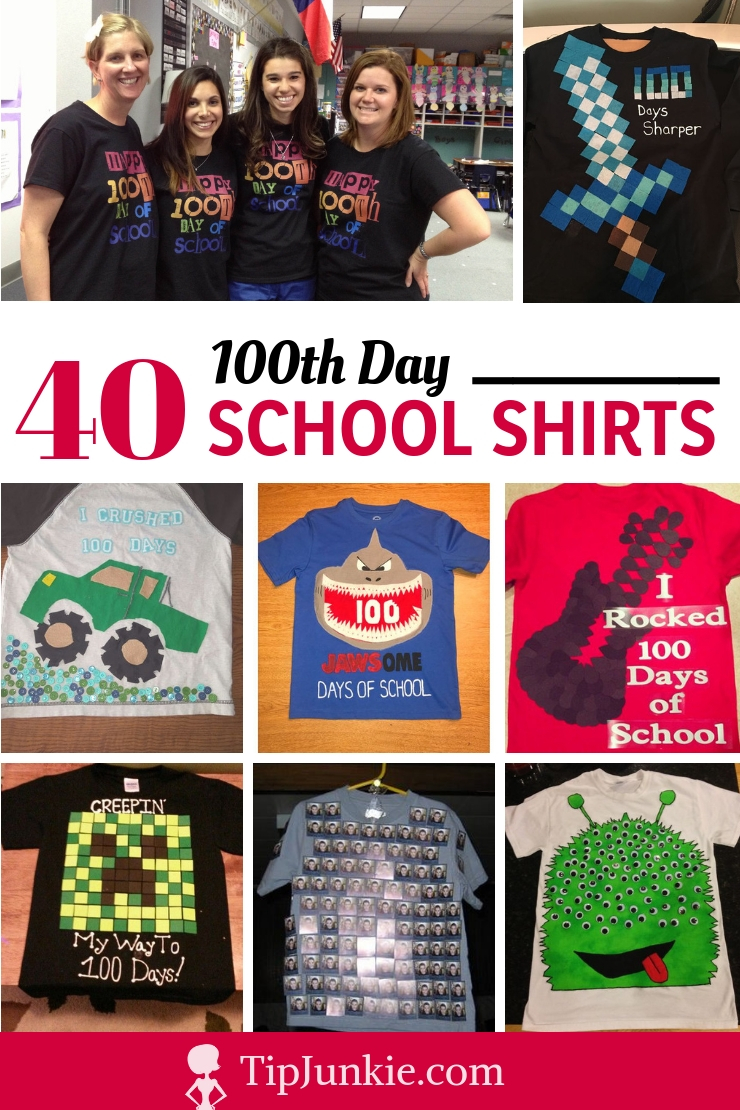 Forty 100th Day of School Shirts to Make
